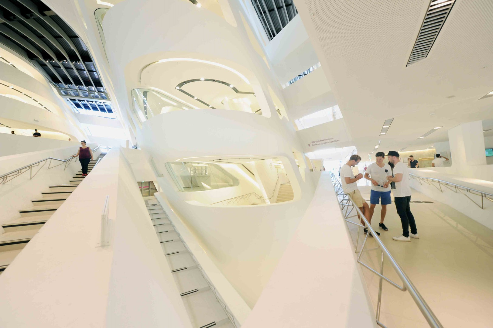 white and modern design of the WU Campus