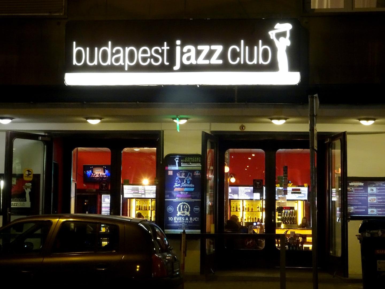 street signs of Budapest Jazz Club