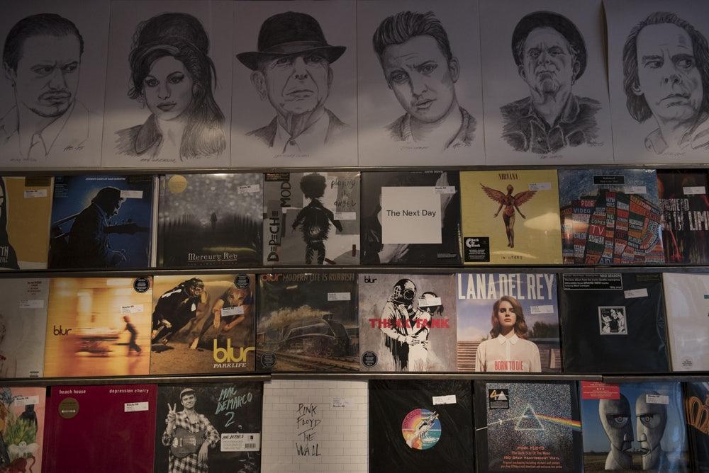 vintage vinyl records at Route66 Copenhagen