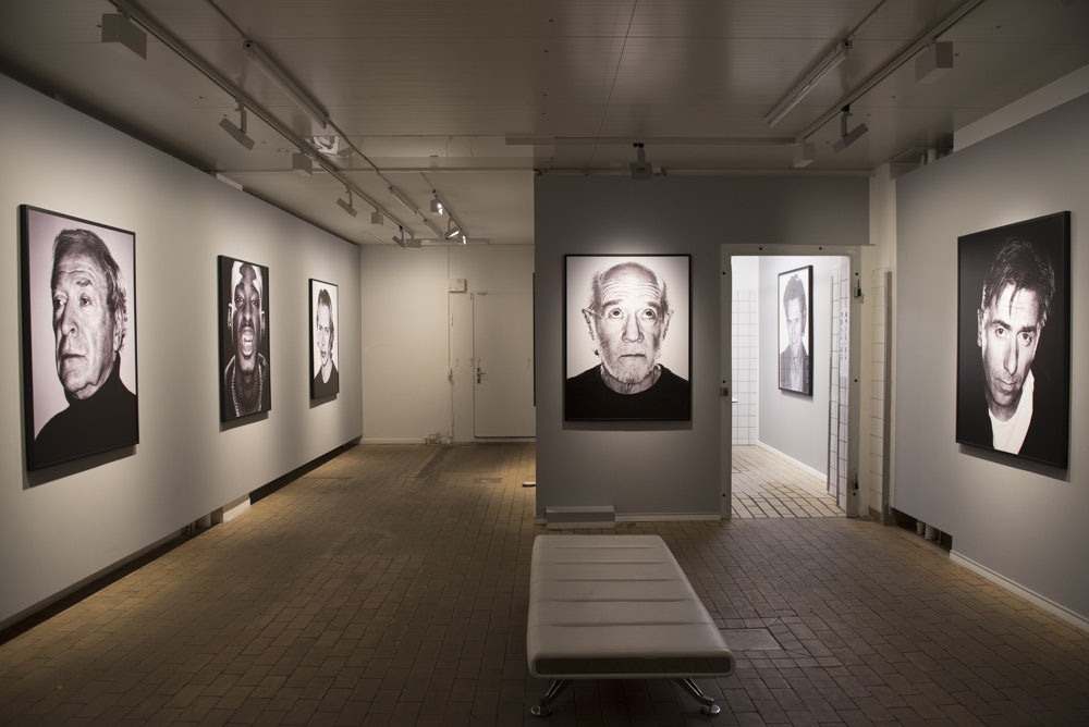 exhibition with photograph of famous people at Gallery Poulsen