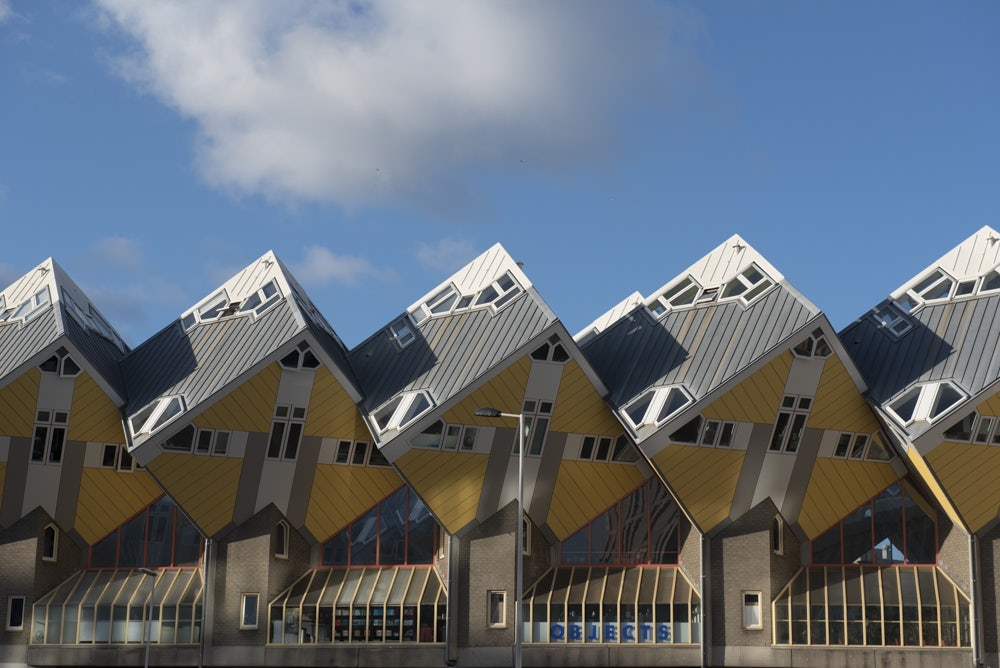 Cube houses by Piet Blom