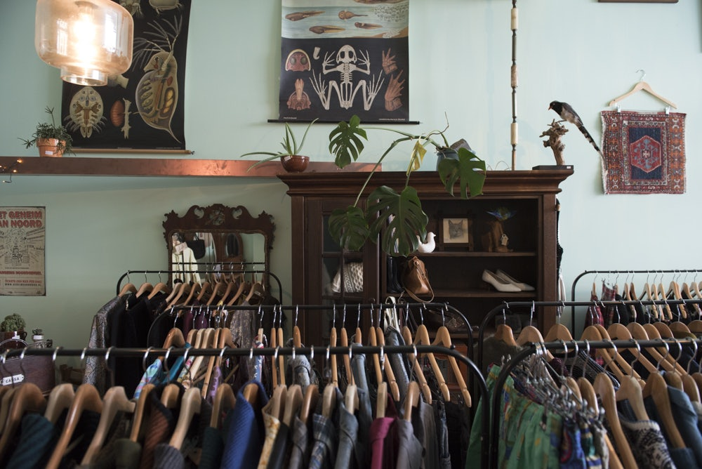 clothes at Margootje vintage in Rotterdam