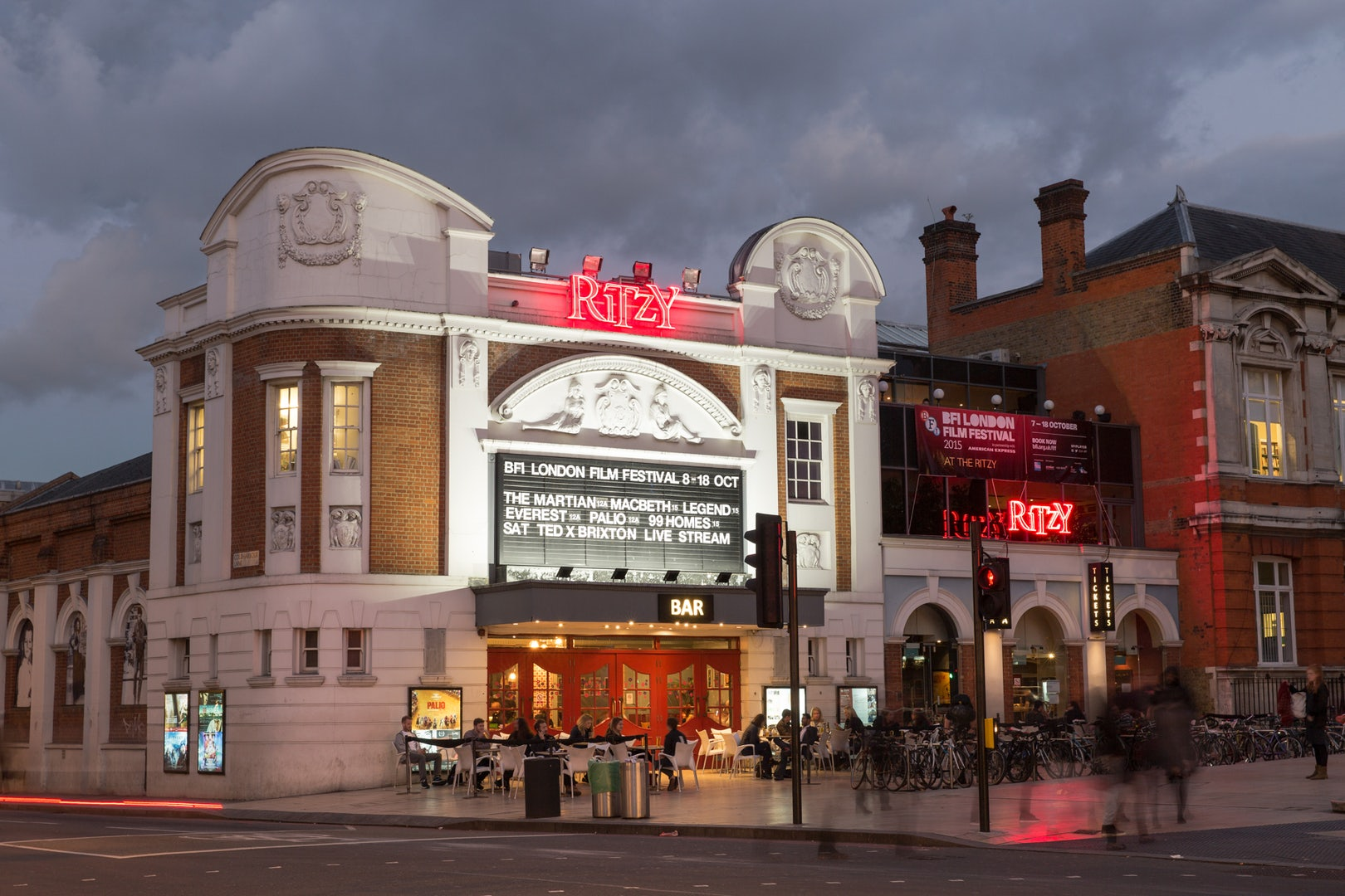 front side of the Brixton Ritzy cinema theatre