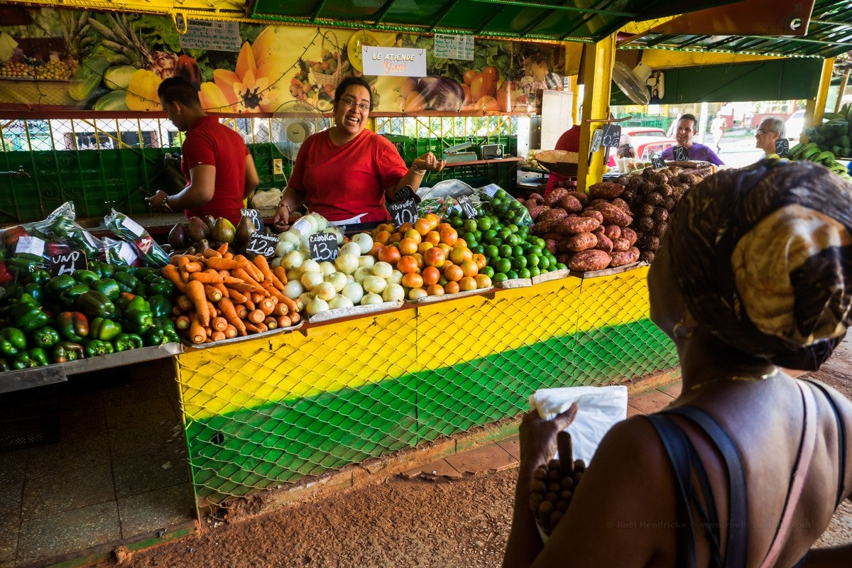 fruits and vegetables at the Agromercado in Havana