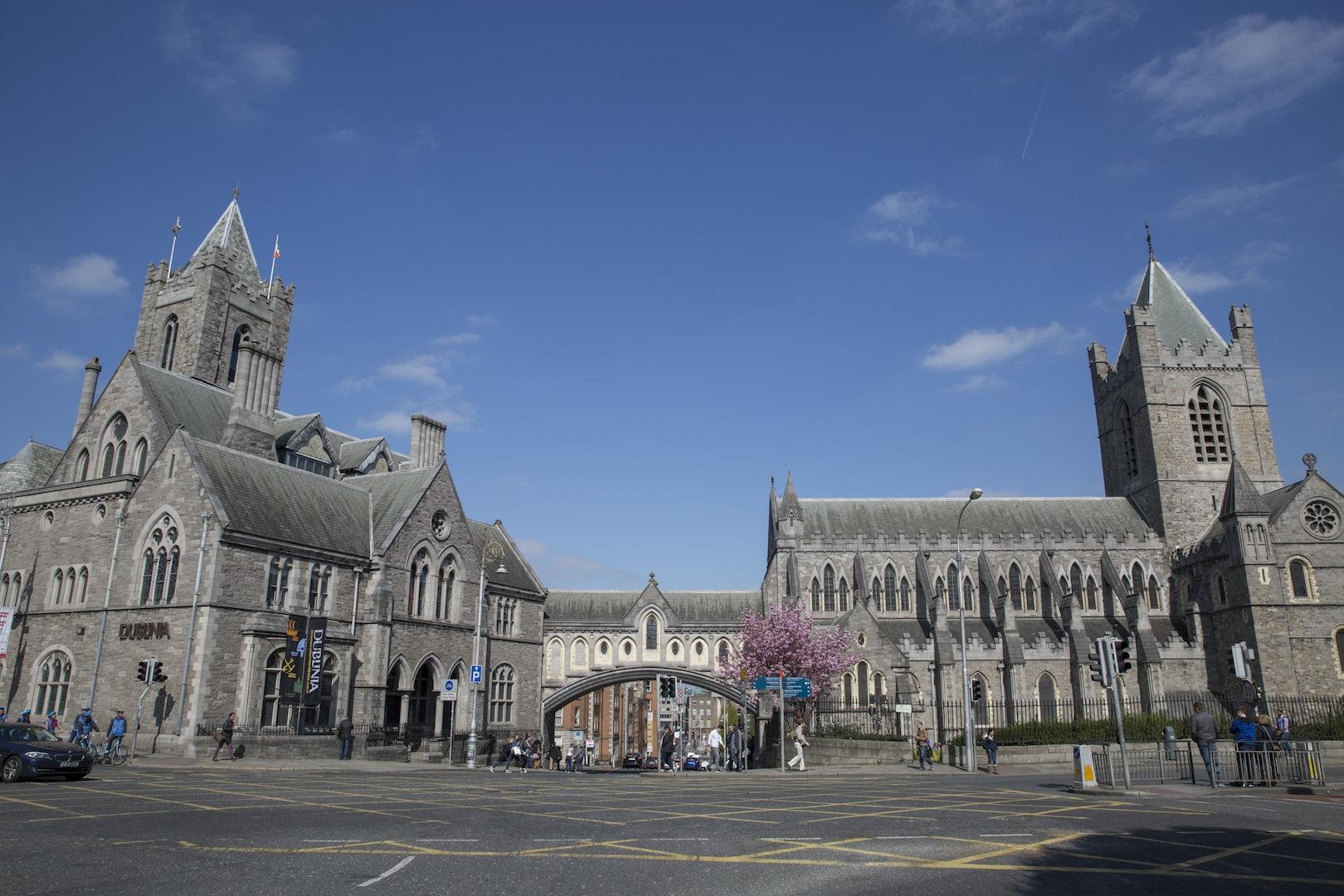 Synod hall bridge in Dublin