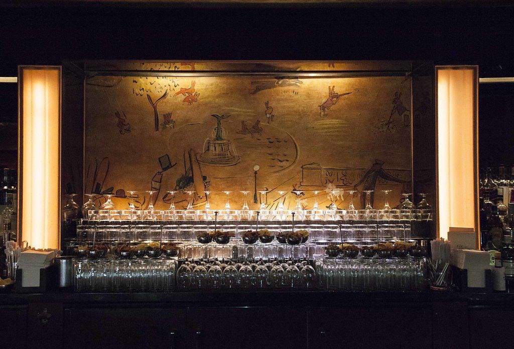 counter at Bemelman's cocktail bar