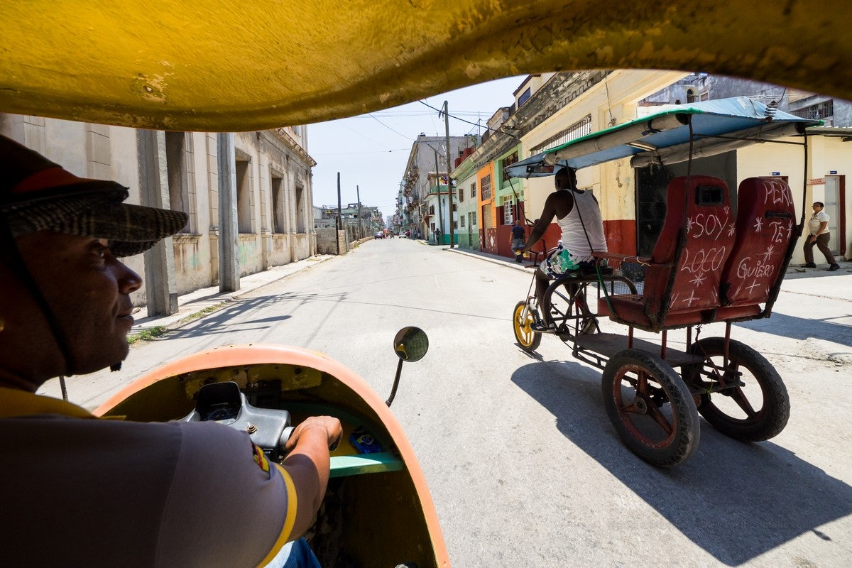 Bicitaxi in Havana