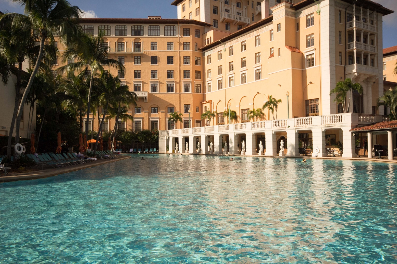 clear blue swimming pool at the Biltmore hotel