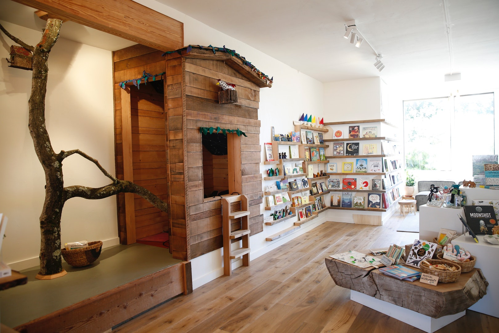interior of Black Bird Bookstore