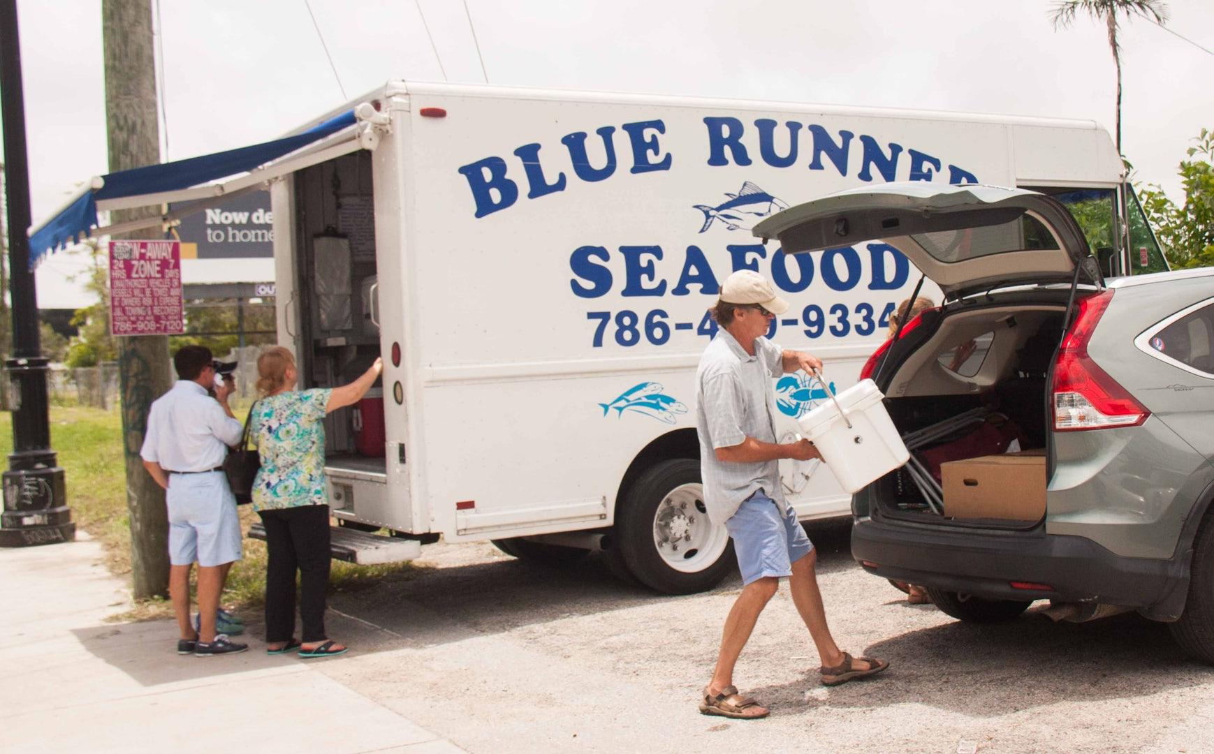 Blue Runner seafood truck