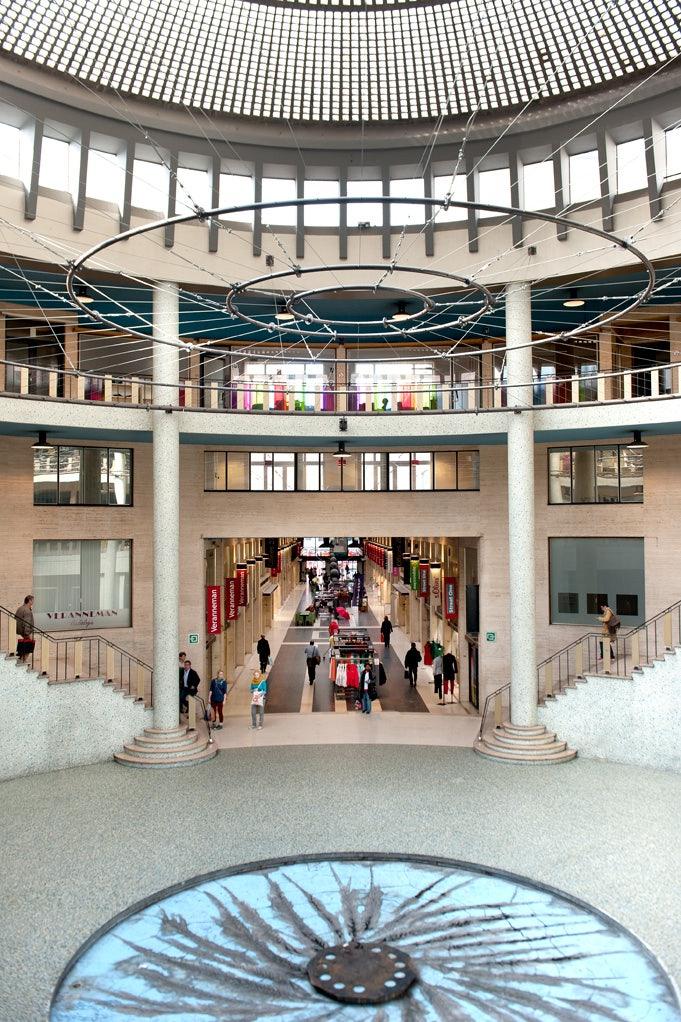 interior of Galerie Ravenstein in Brussels