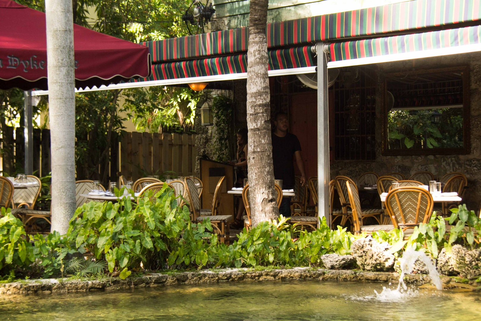 the terrace at Café Roval in Miami