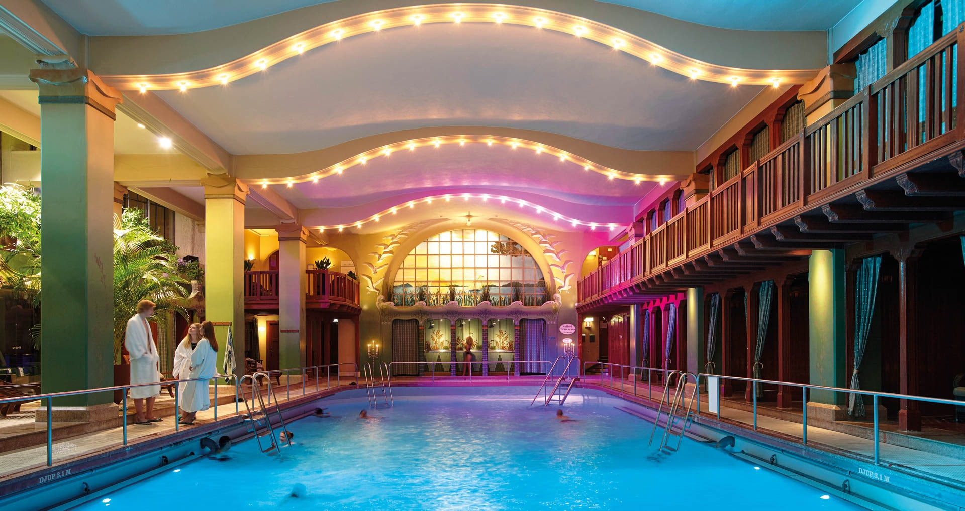 interior of the Centralbadet in Stockholm
