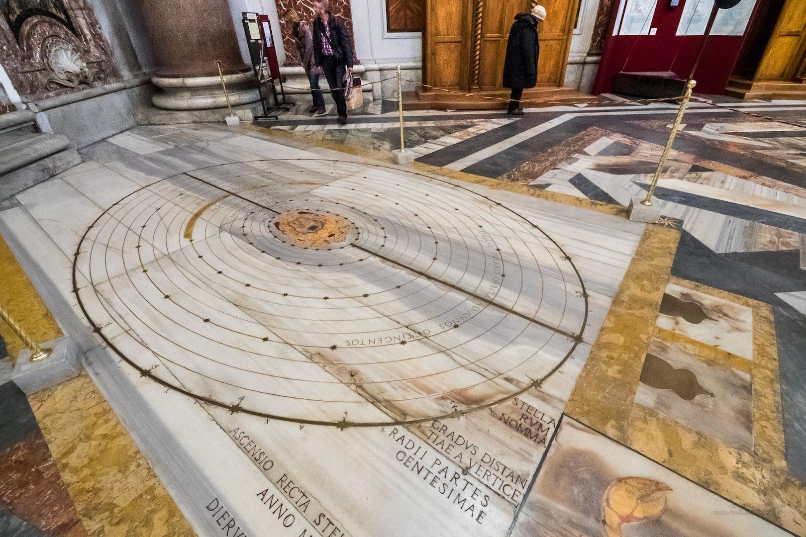 sundial at the Santa Maria degli angeli e dei martiri