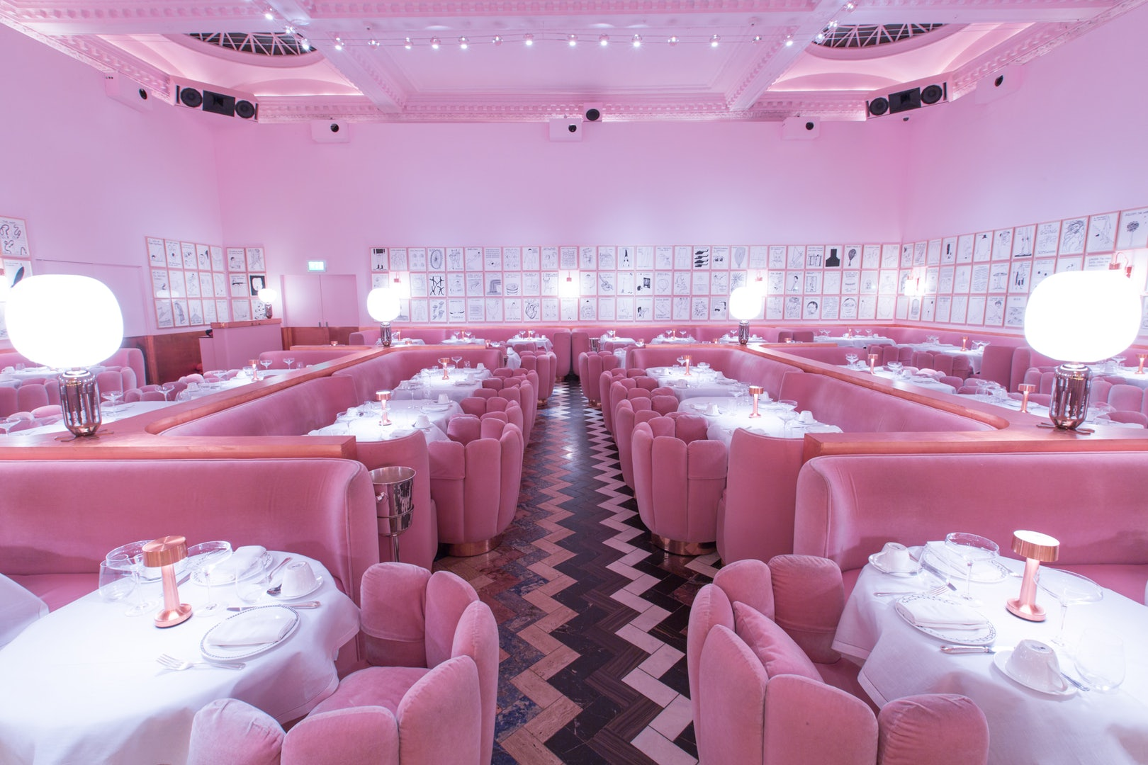 complete pink interior at Sketch