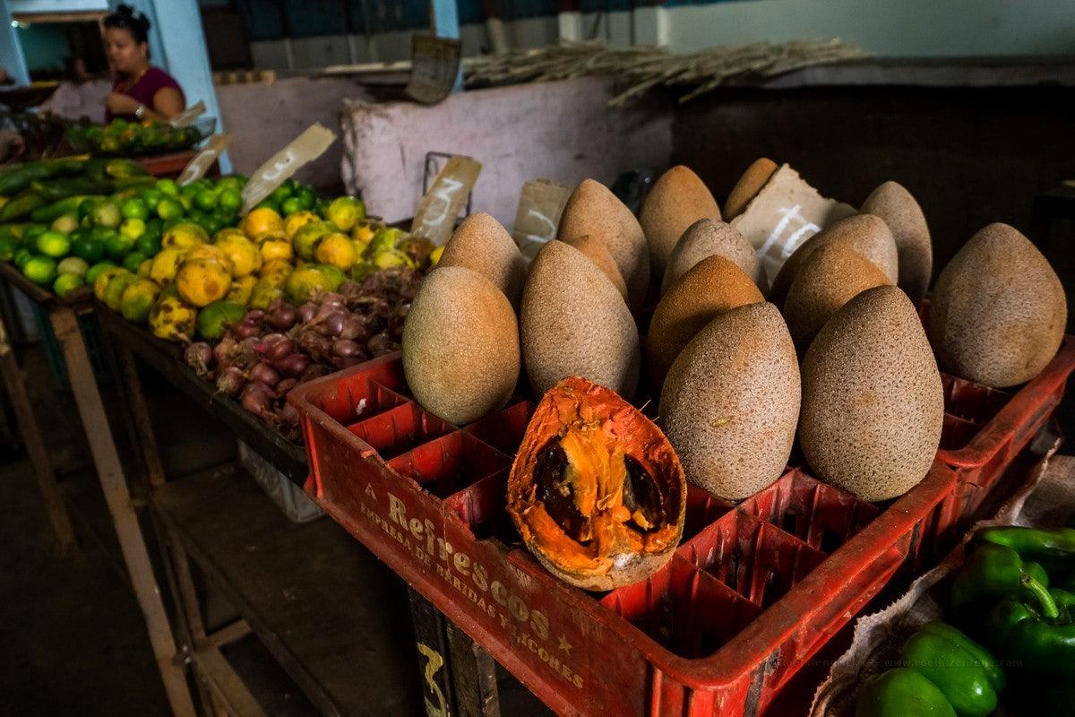 Mamey fruits at a market