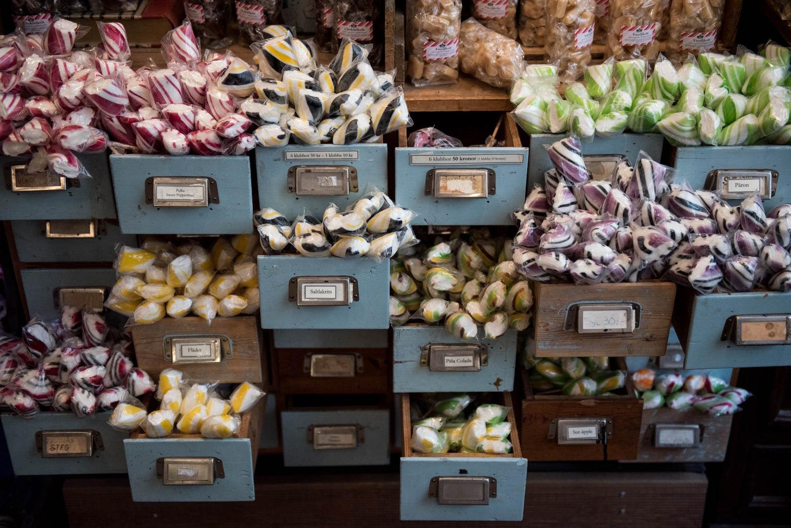 candy from Gamla Stans Polkagriskokeri
