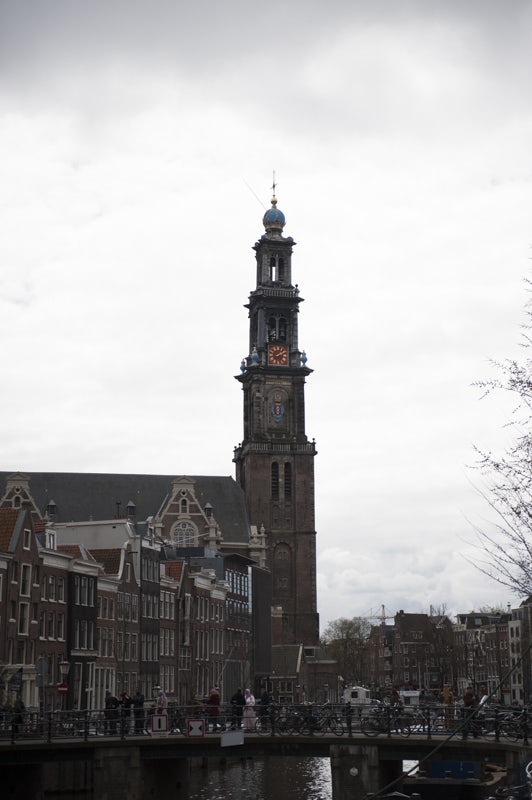 exterior of the Westertoren in Amsterdam