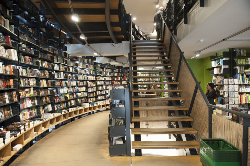 interior of shop at the American Book Centre Amsterdam