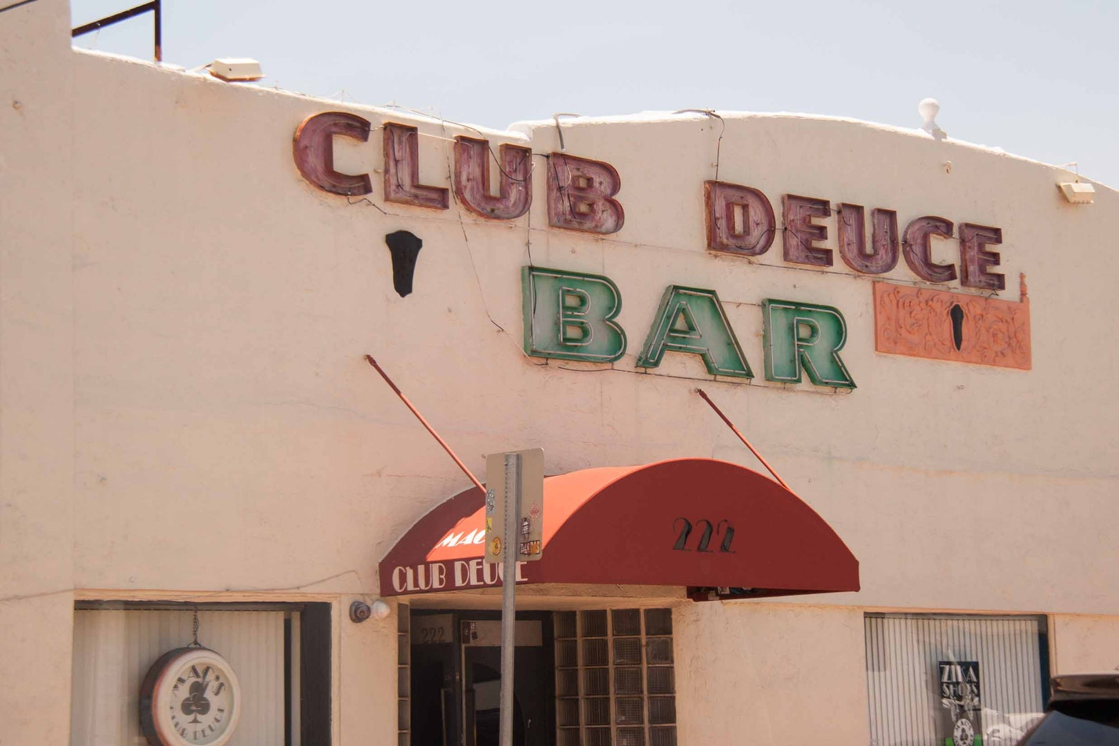front side of Mac's Club Deuce bar in Miami