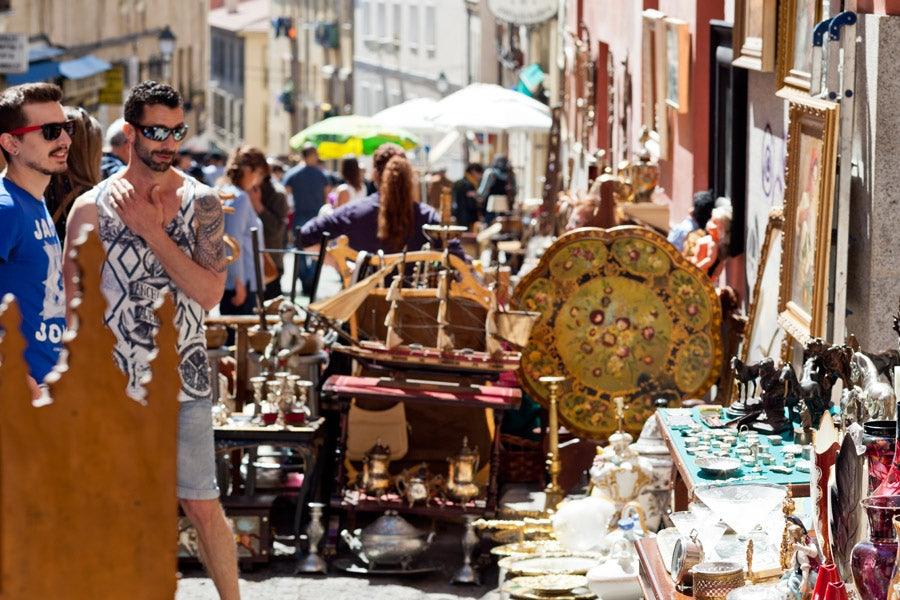 El Rastro second hand market in Madrid