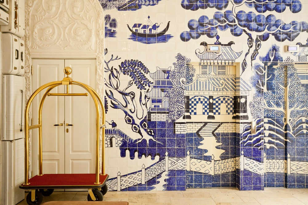 Portuguese tiles at the Only You Boutique hotel