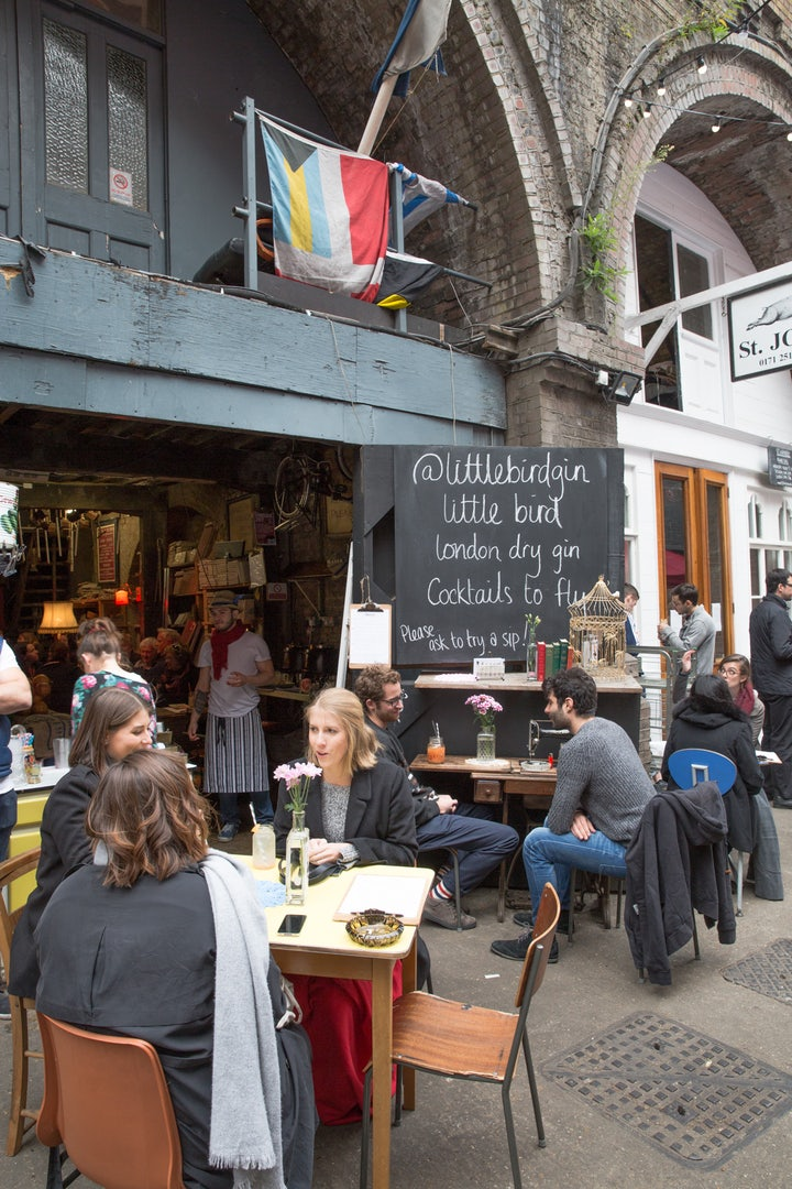 The Maltby street market in London