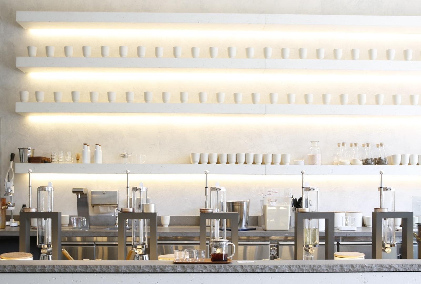 bar of Tea House Samovar in San Francisco