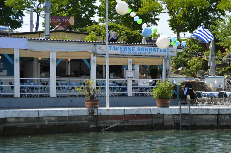 Taverna Sokrates by the water in Vienna