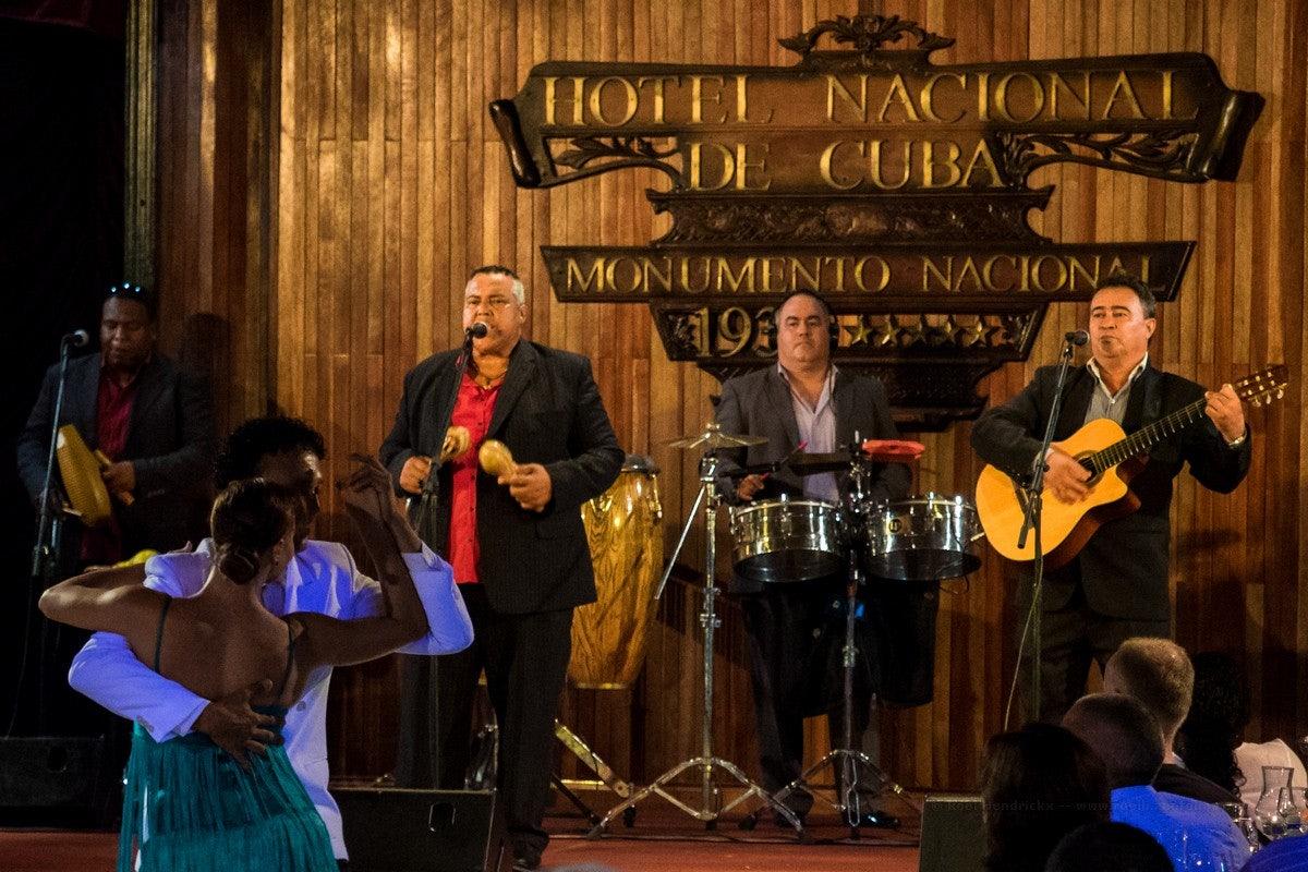 Cuban music performance at Hotel Nacional