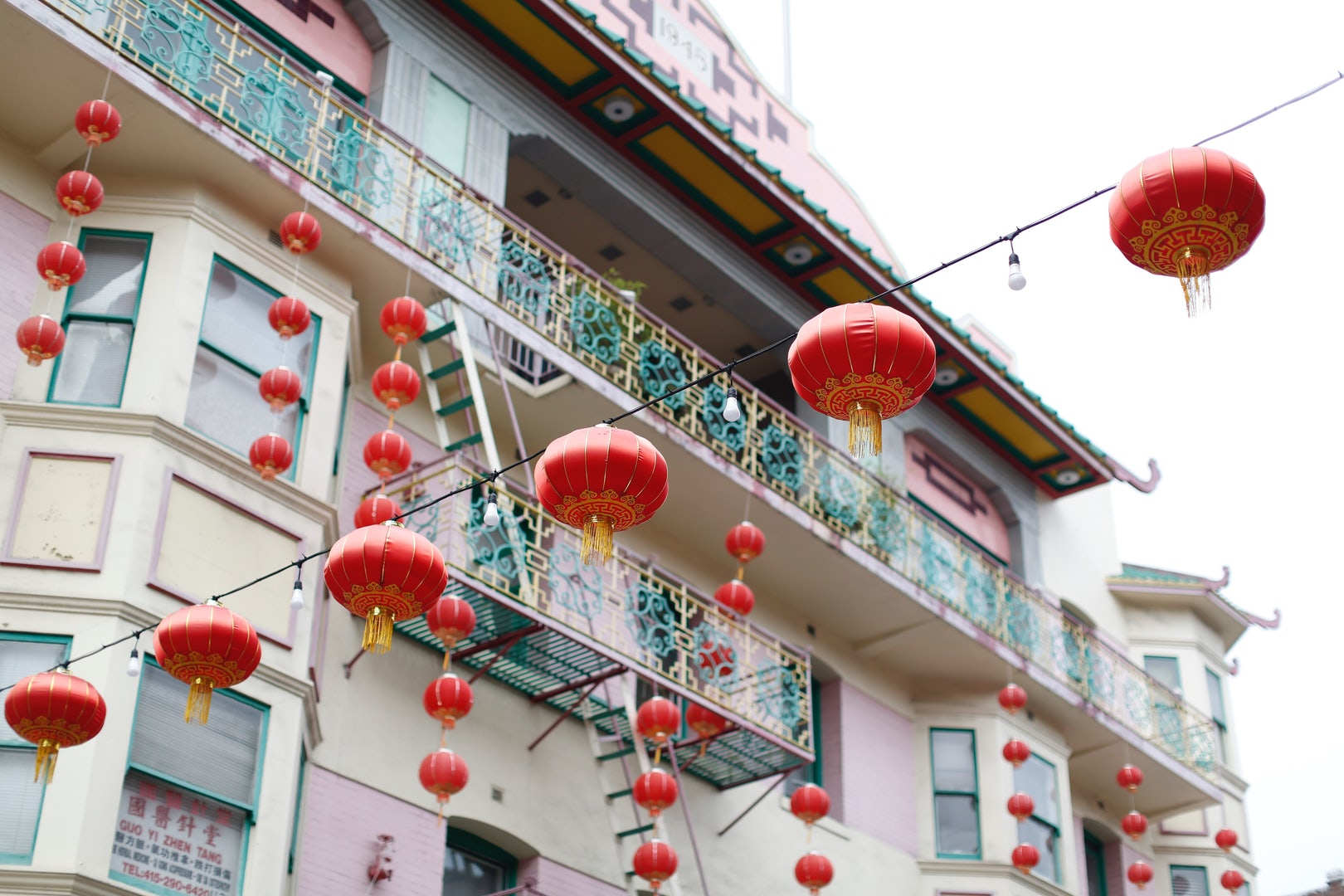 Chinese lanterns in San Francisco Chinatown