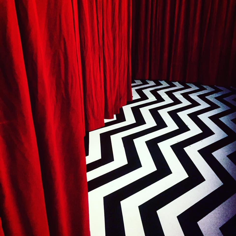 Twin Peaks inspired interior at The Black Lodge Berlin