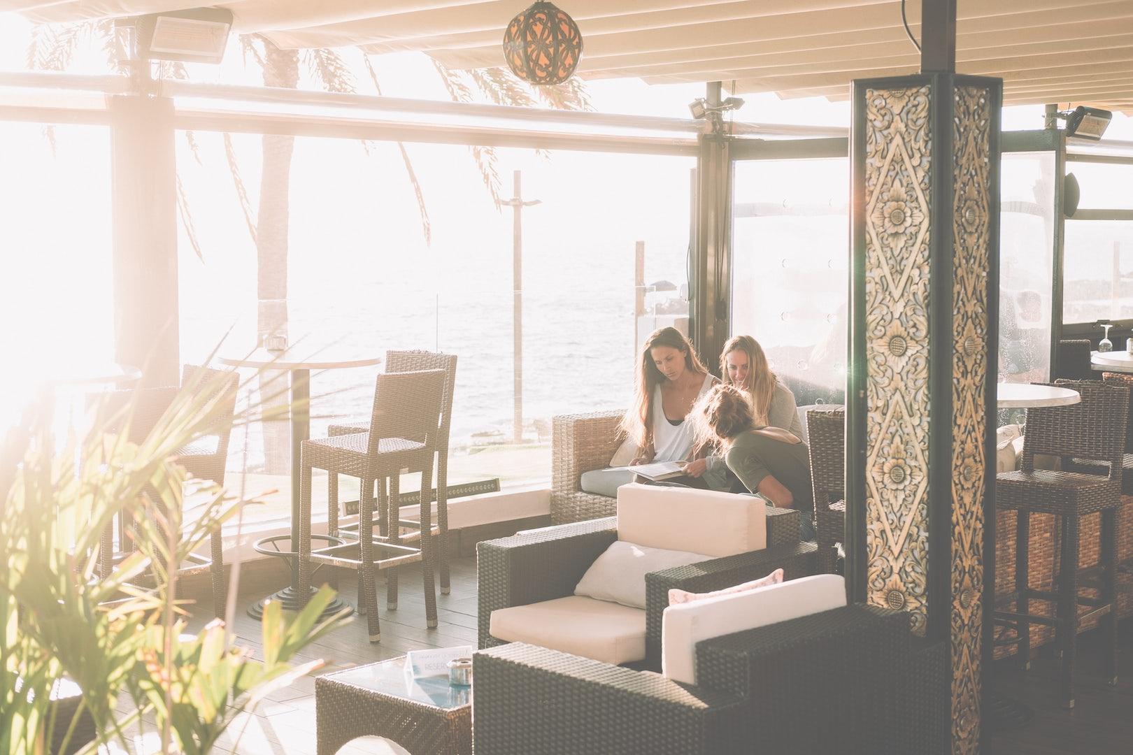 people sitting at the lounge of La Terrazza del Mare