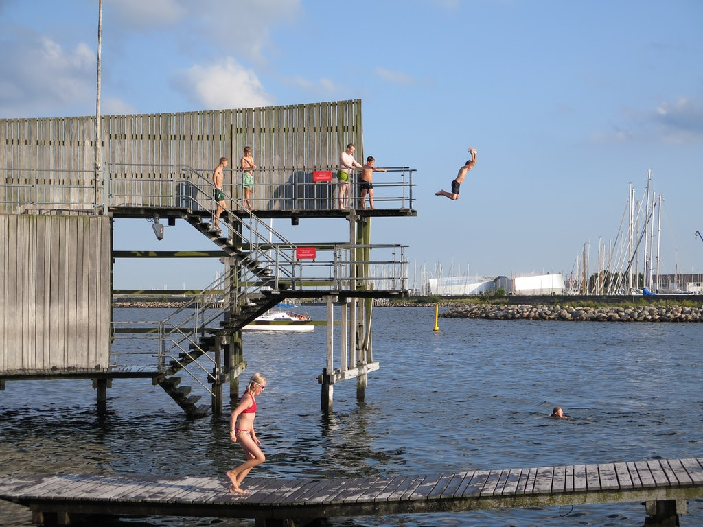 jumping platform Kastrup sea bath
