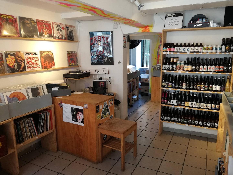 Crate record store interior