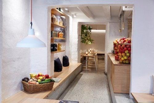 light interior of SimpleRAW restaurant
