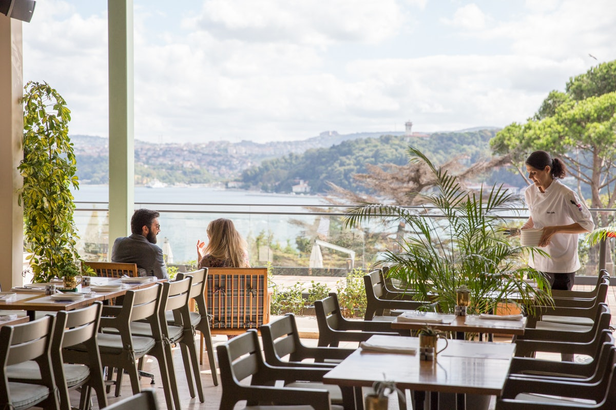 terrace and view at MSA Restaurant