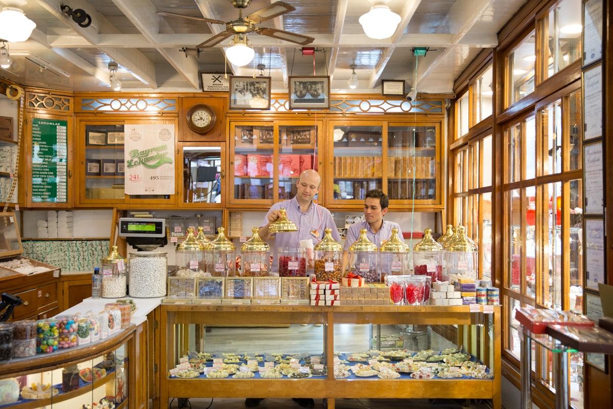 Turkish confections at ALI MUHIDDIN HACI BEKIR