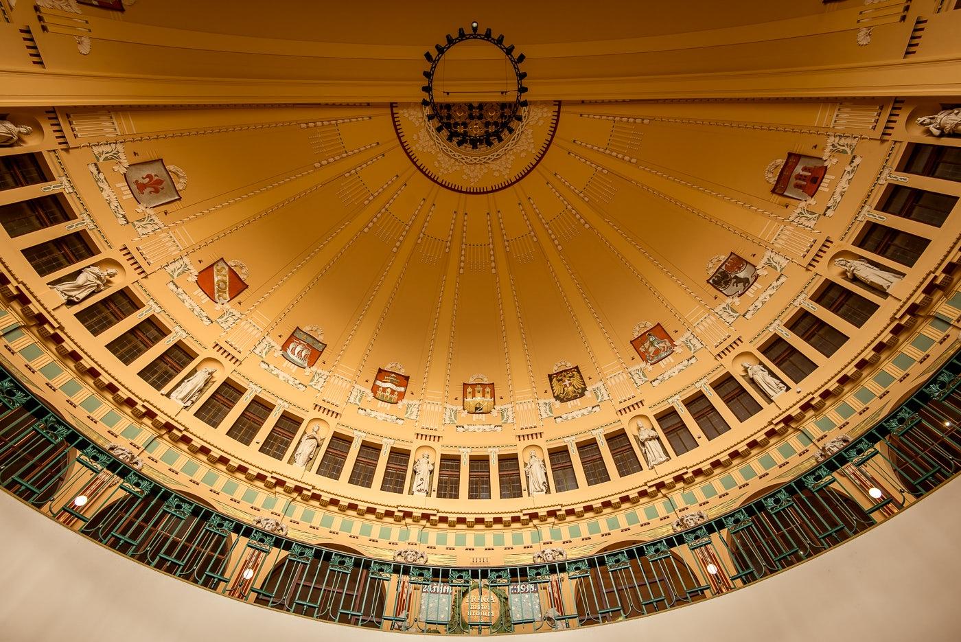 art nouveau style ceiling