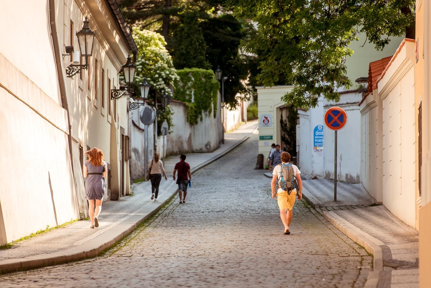 cobbled Vlasska street