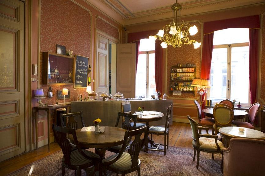 vintage interior of Huset bar