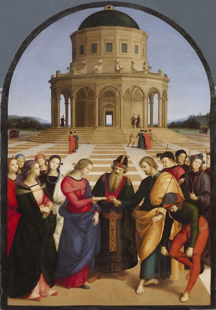 painting marriage of the virgin