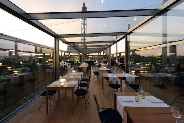 restaurant at the rooftop Terrazza Triennale