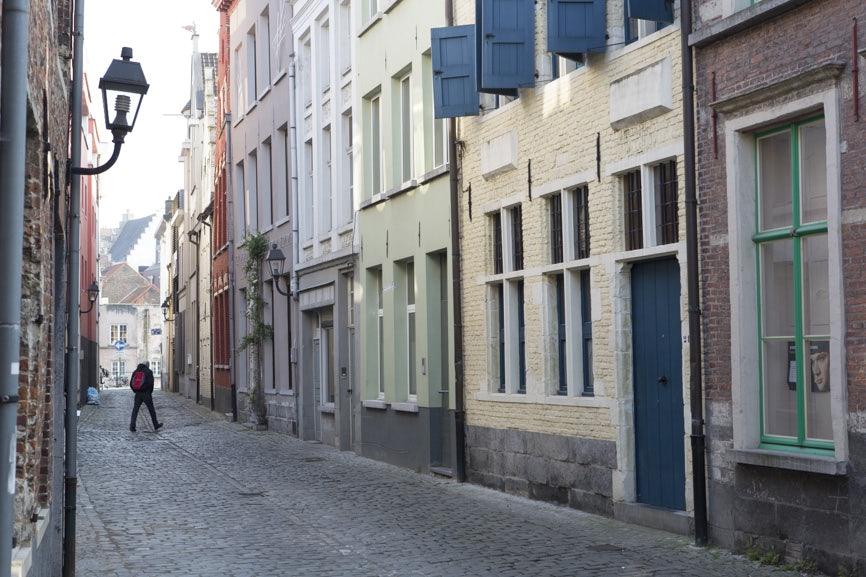 a street in Patershol Ghent