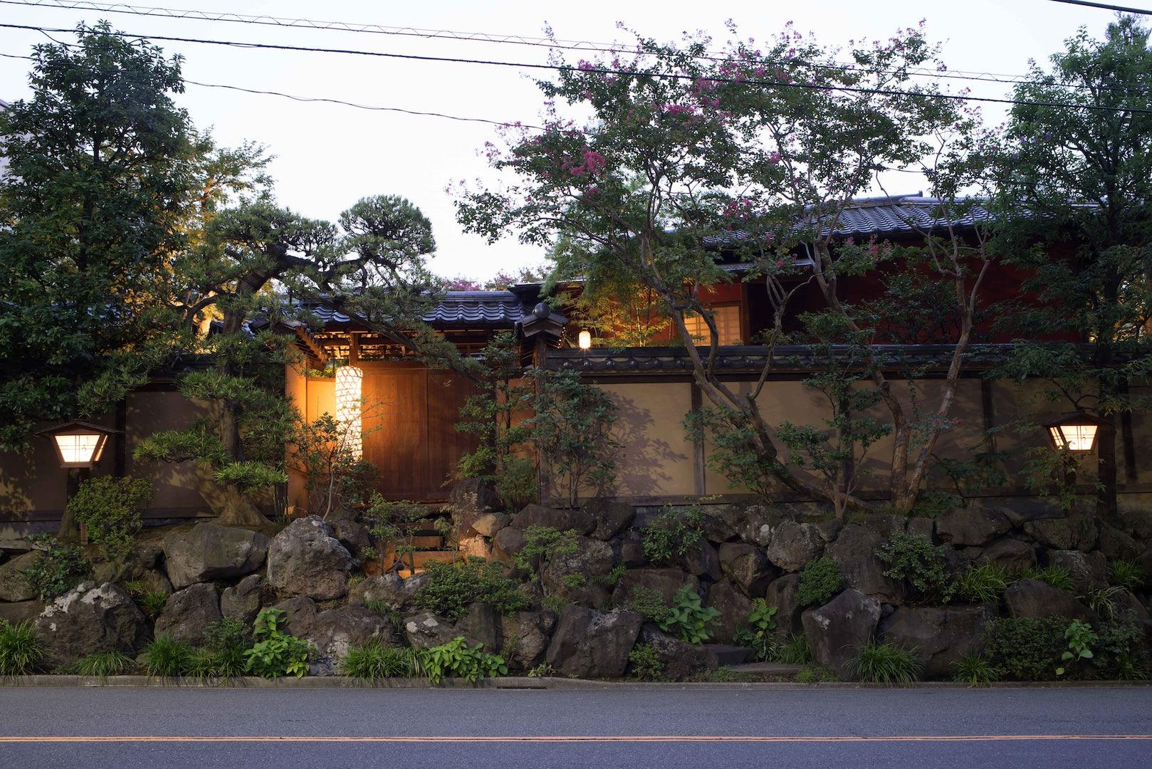 exterior of Tofuya Ukai restaurant
