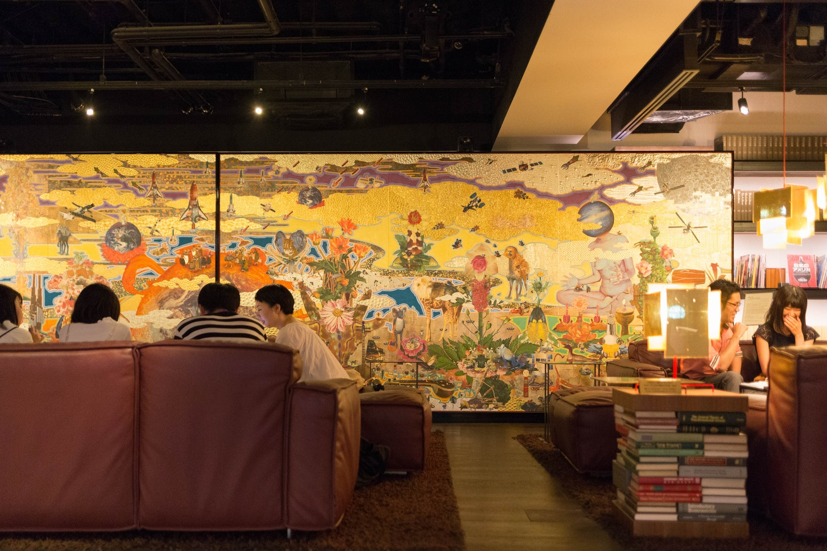 mural art at  Tsutaya Daikanyama book store