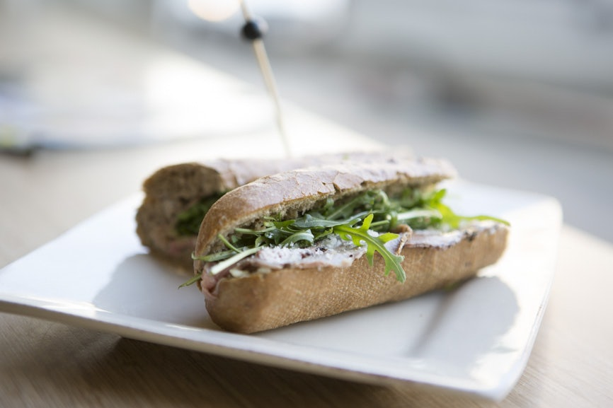 a sandwich made at Verloren Kost sandwich bar