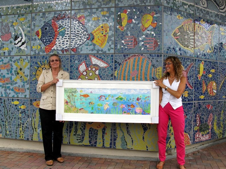 inauguration of the Coconut Grove Children's Mosaic at U.S. Post Office Mural