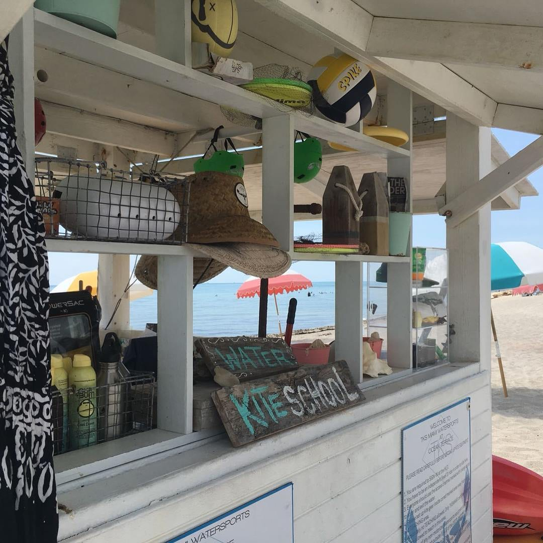 kiosk on the beach of TKS Miami Watersports