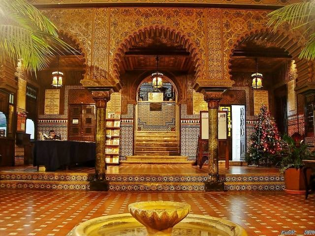 entirely tiled reception at the Casa Do Alentejo